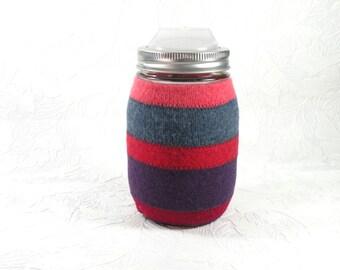 canning jar travel mug with cozy - pint size