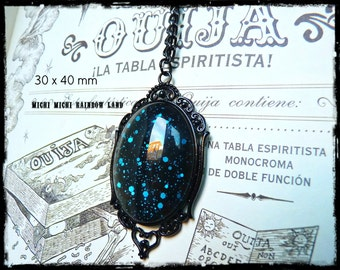 Blue Dragon Blood Gothic Necklace - Black gift box included