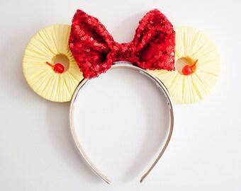 Dole Whip Ears / Pineapple Mouse Ears / Dole whip mouse ears / pineapple ears / mickey mouse ears / minnie mouse ears / mickey ears / disney