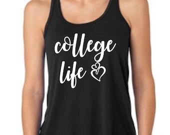 Glitter College Life Custom Glam  Bedazzled Shirt