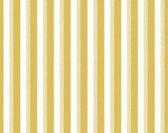 Yellow and White Stripe Fabric - Riley Blake Wiltshire Stripe Fabric - Yellow and White Fabric