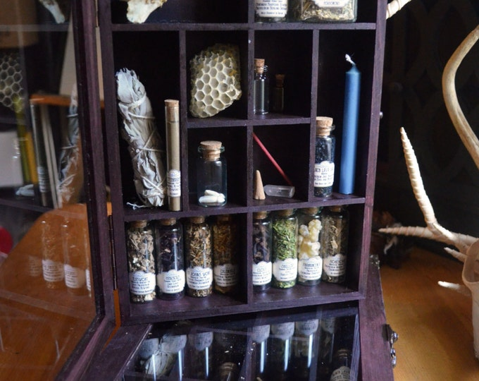 Featured listing image: Fully Stocked Apothecary Kit with Antique Labeling System