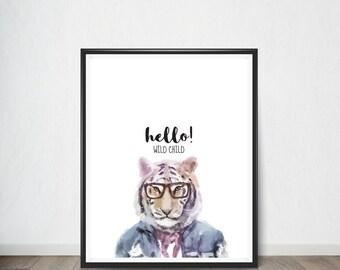 Tiger Digital Print, Art Print, Digital Art, Digital Art Print, Digital Artworks, Digital Print Art, Digital Art Download