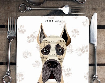 Great Dane Dog Personalised Placemat/coaster