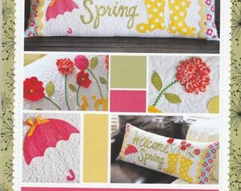 Welcome Spring Bench Pillow - Pattern - So Cute! - by Kimberbell - C