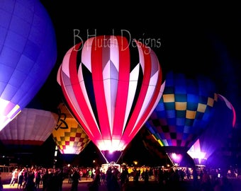 Balloon Glow, Hot Air Balloon Photography, Balloon Glow, Print Digital Download, Wall Art, Hot Air Balloon Photo, Home Decor