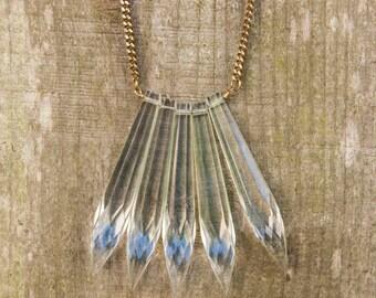 Chandelier Crystal Cluster Necklace