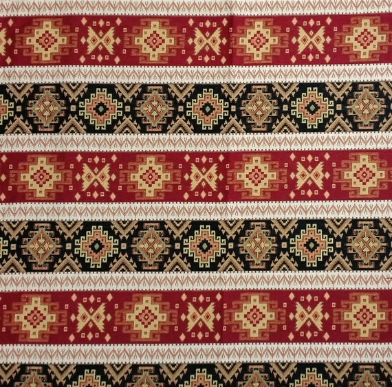 Ethnic Tribal Style Upholstery Fabric, Aztec Navajo Home Decor Fabric,  Striped Kilim Fabric, Claret Red Black Yellow, Ycp 012 From AnatoliaFabric  On Etsy ...