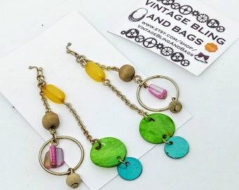 8cm vintage drop earrings, long earrings, chandelier earrings, boho drop earrings, vintage earrings, boho dangle earrings, boho earrings