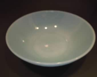 "Fire King Delphite Blue Turquoise Glass 8"" Serving Bowl"