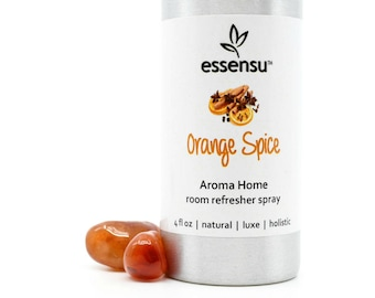 Orange Spice Aroma Home Aromatherapy Natural Room Spray | Non-Toxic Room Freshener | Eliminate Odors | Hostess Gift | Eco-Friendly - 4 oz