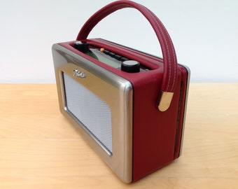 Stainless Steel and Genuine Leather Roberts Revival DAB Radio