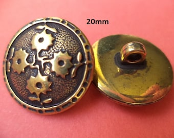 11 Buttons Brass 20 mm (945) button
