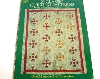 70 Classic Quilting Patterns by Gwen Marston and Joe Cunningham, Dover Book