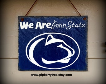 Penn State University/ Or Your College/University/Personalized Hand Painted Decorative Slate Sign/Personalized Penn State Sign/PSU Sign