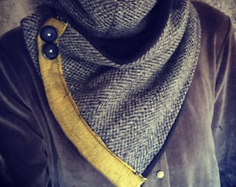 Upcycled Wool Scarf with Fleece Lining