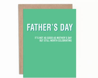 Funny Father's Day Card, Happy Father's Day, Card for Dad, Card from Mom, Funny Greeting Card, Funny Message, Sarcastic Card for Dad, Witty
