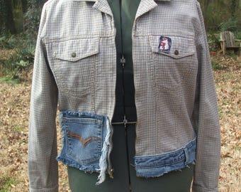 Upcycled clothing, Upcycled Jacket, Woman's Jacket