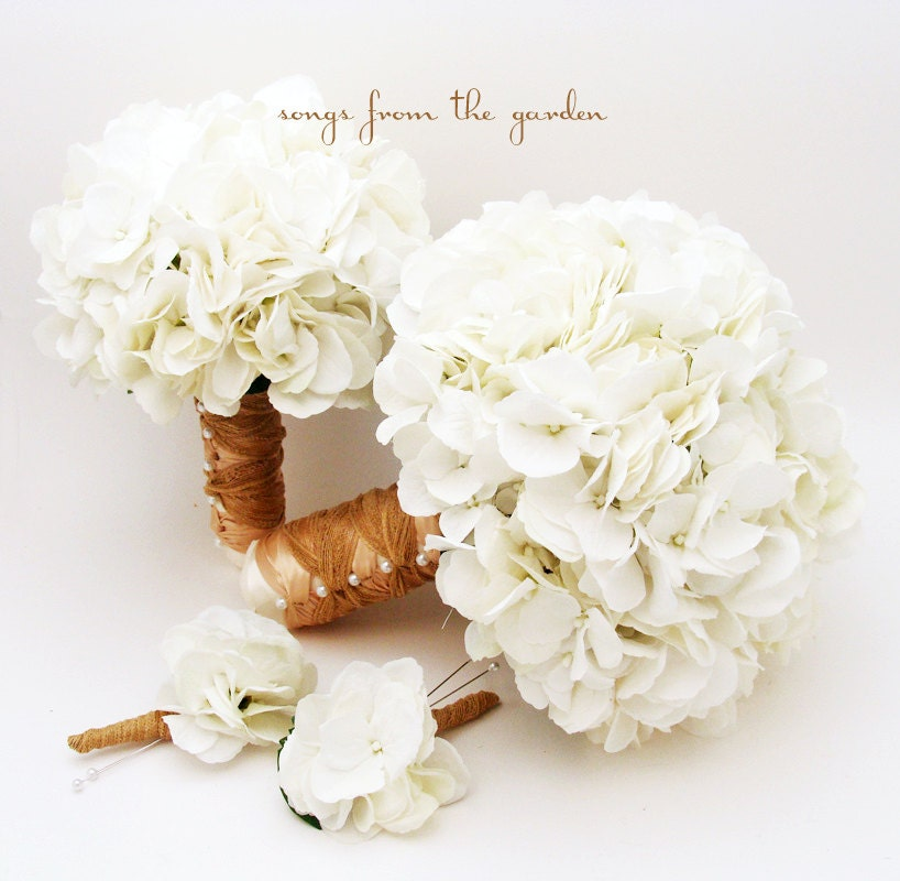 Fine white flowers in season in october photos images for wedding white silk hydrangea bridal bridesmaid bouquet grooms mightylinksfo Choice Image