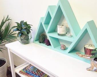 Rustic Mountain Shelf, Bookshelf, Mountain Decor, Home Decor, Rustic, Nursery, Nursery Wall Art, Nursery Decor