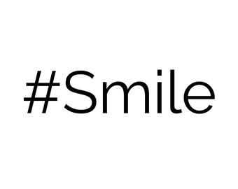 Hashtag Smile Sticker Vinyl Decal