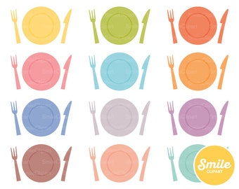 Clean Plate Clipart Illustration for Commercial Use | 0064