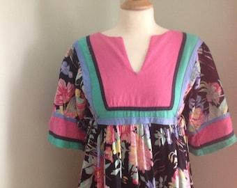 1970's Smock Dress Size S/M
