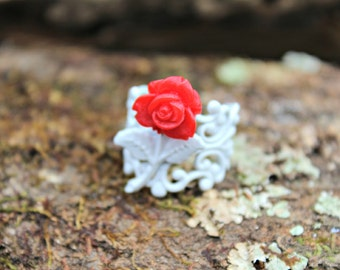 Chico Red Rose Ring