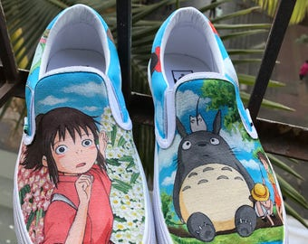 Anime Vans Shoes My Neighbor Totoro Anime Shoes Spirited Away Anime Shoes Howl's Moving Castle Anime Shoes Kiki's Delivery Service Shoes