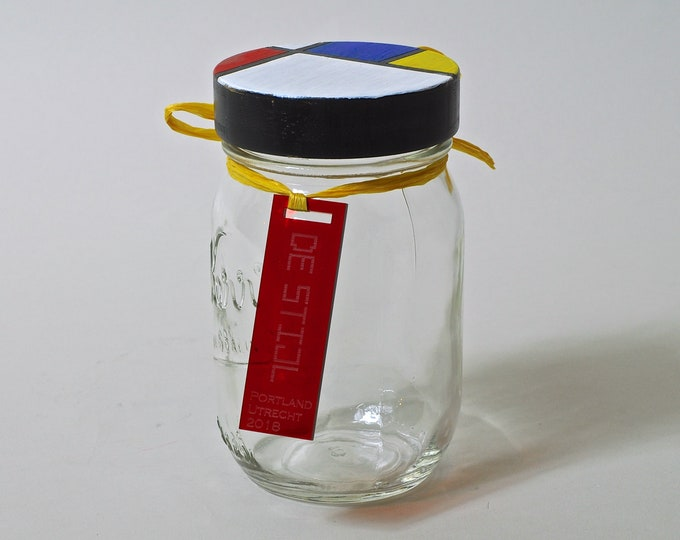 De MONDRIAN Mason jar - Help us raise funds for Portland's DE STIJL project