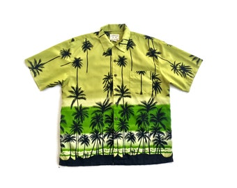 90s Palm Tree Island Button Up Top