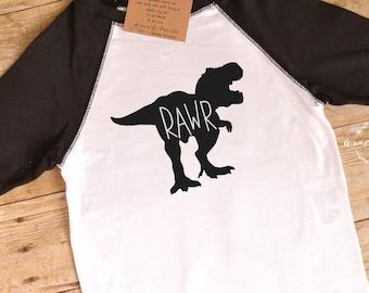 RAWR Shirt, Dinosaur Shirt, Dino Onesie, Rawr means, I Love You, Toddler Shirt, Boys Clothing, Dinosaur Party, Graphic Tee, Dinosaur, T-rex
