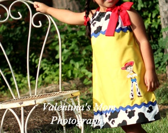 Super Cute Cow Girl Jessie Toy Story pillowcase dress