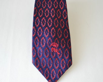 amazing 1960s vintage necktie by Countess Mara of New York--skinny necktie