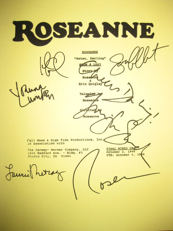 roseanne signed tv script screenplay x6 autographs absolutely