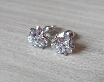 Silver stud earrings studs Comfortable Backs