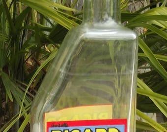 Verre Français Ricard eau Carafe Art Deco des années 1950 Vintage bar bouteille carafe Pernod Pastis