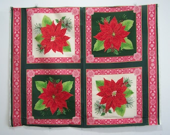 Poinsettia Pillow Panel