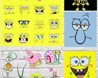 Sponge Bob svg dxf eps jpg png,picture,cartoon.