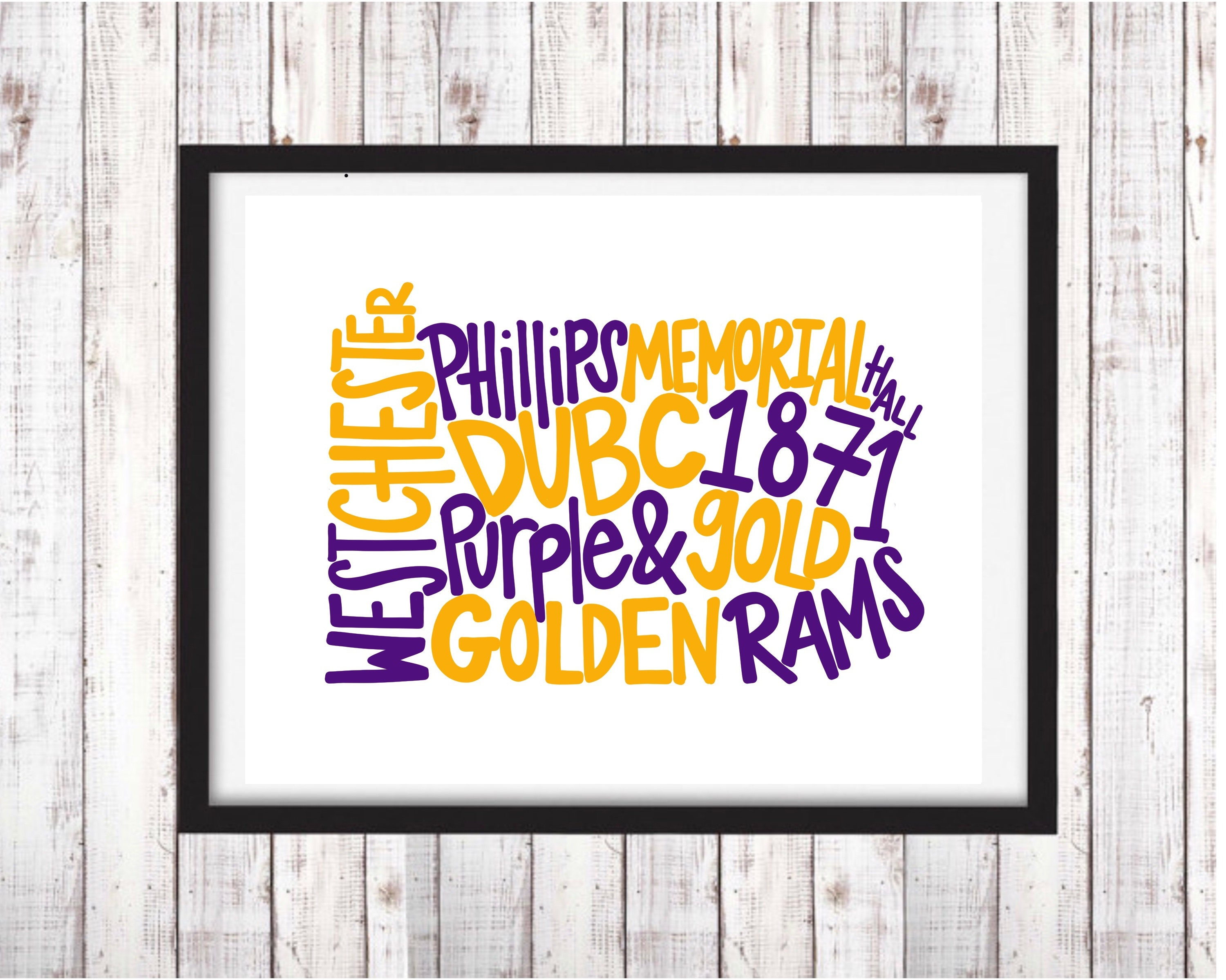 West Chester University Printable Art College Student Gift