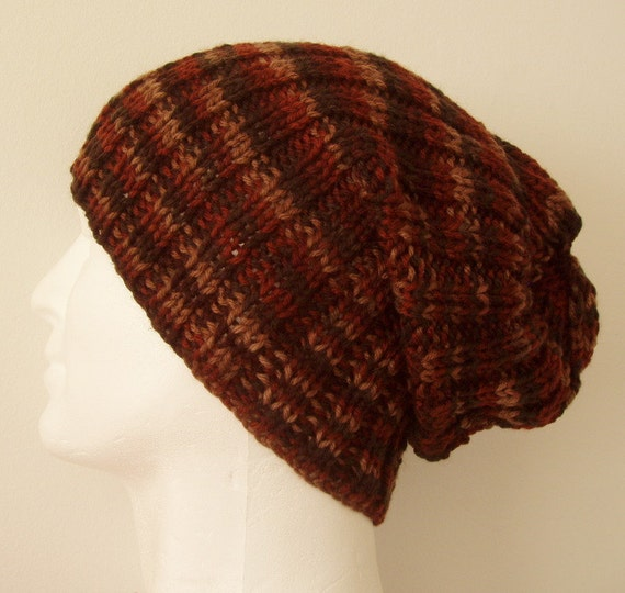 Knitting Pattern Seattle Slouchy Ribbed Hat For Men And Women Easy