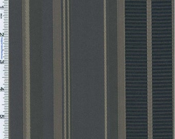 Periwinkle Grey Stripe Decorating Fabric, Fabric By The Yard