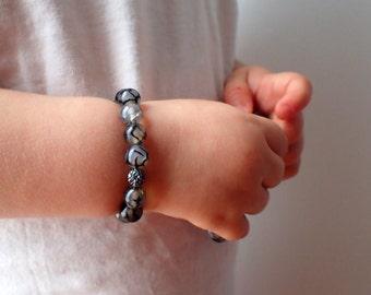 Baby Agate bracelet, protection bracelet baby. Beaded bracelet baby, agate for baby. Healing stone baby, Dragon Veins Agate bracelet