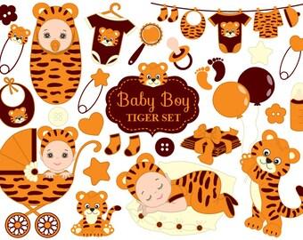 Baby Shower Tiger Clipart - Vector Baby Tiger Clipart, Baby Shower Tiger Clipart, Baby Tiger Clipart, Baby Tiger Clip Art