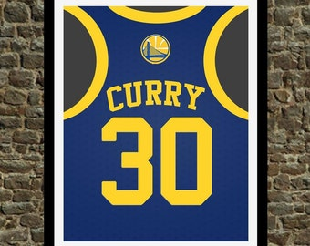 Curry Golden State Warriors Art Print - Perfect gift for the Basketball fan, great for the office or fan/man cave