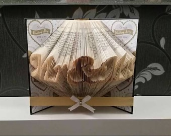 Mr&Mrs Folded Book Art