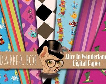 Alice in Wonderland Digital Paper Pack
