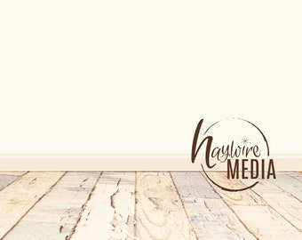 Baby, Toddler, Child Photography Digital Backdrop for Photographers - Wood Floor Digital Backdrop with White Wall Instant Download