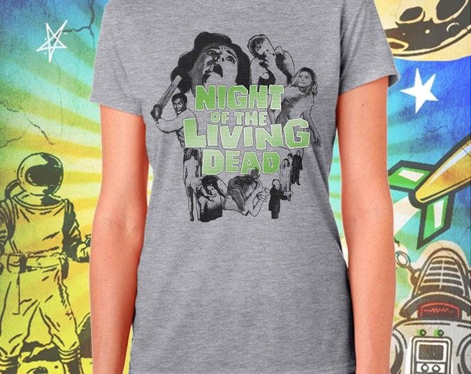Night of the Living Dead Poster Style / Women's Zombie Gray Performance T-Shirt