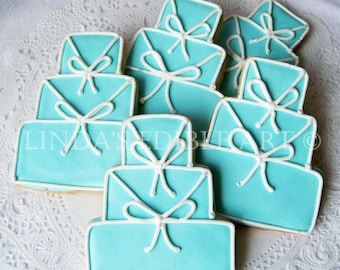 Something Blue Wedding Cake Cookie  1 Dozen (12)